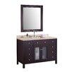 "Design Element Venetian 48"" Single Bathroom Vanity Set with Mirror"