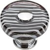 "<strong>Atlas Homewares</strong> Glass Zebra 1.5"" Round Knob"
