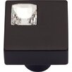 "Atlas Homewares Boutique Crystal Off Center 1"" Square Knob"