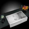"Water Creation 36"" X 22"" Single Bowl Kitchen Sink"