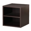 Modular Storage Cube with Shelf in Espresso