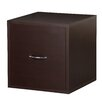 Foremost Modular Storage Cube with File Drawer in Espresso