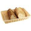 Paderno World Cuisine Rectangular Polyrattan Bread Basket (Set of 6)