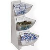 Paderno World Cuisine 3 Compartment Stainless Steel Condiment Tower Bins