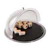 Paderno World Cuisine Stainless Steel Base Dome Display with Slate Tray