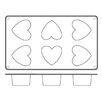Paderno World Cuisine Non Stick Silicone Heart Mold (Set of 2)