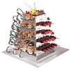 Paderno World Cuisine Stainless Steel Serving Pyramid Rotating Buffet