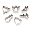 Paderno World Cuisine 6 Piece Stainless Steel Christmas Cookie Cutters Set (Set of 2)