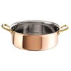 Paderno World Cuisine Copper and Stainless Steel Round Rondeau