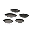 Paderno World Cuisine 5 Piece Non-Stick Fluted Boat Mold (Set of 5)