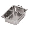 Paderno World Cuisine Hotel Pan with Fixed Handles - 1/2 in Silver