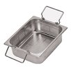 Paderno World Cuisine 12.5 x 10.5 Inch Stainless-Steel Perforated Hotel Pan with Folding Handles