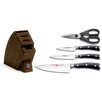 Wusthof Wusthof Classic Ikon 5 Piece Knife Block Set in Brown