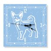 Naked Decor Chihuahua Clock