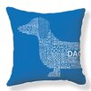 <strong>Naked Decor</strong> Dachshund Typography Pillow