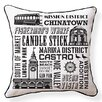 Naked Decor San Francisco Neighborhoods Throw Pillow