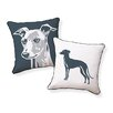 Naked Decor Big Greyhound Pillow