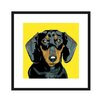 Naked Decor Black Dachshund Graphic Art