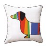 Naked Decor Dachshund Throw Pillow