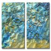 All My Walls 'Shifting Sand' by Kelli Money Huff 2 Piece Painting Print Plaque Set