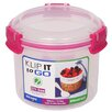 <strong>Sistema USA</strong> 17.9 Oz. Klip It Breakfast To Go Food Storage Container