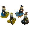 <strong>DHI Accents</strong> Gnomes Riding Bugs Garden Decor
