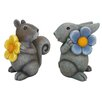 DHI Accents Bunny and Squirrel Garden Decor (Set of 4)