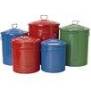 Houston International 5 Piece Galvanized Container Set