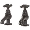 <strong>Elizabethan Classics</strong> Bathroom Faucet Set with Metal Cross Handles