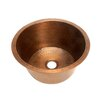 "<strong>Belle Foret</strong> 17.75"" x 17.75"" Large Round Bar Sink with Flat Bottom"