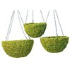 SuperMoss™ Round Hanging Basket (Set of 3)