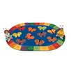 Carpets for Kids Literacy 123 ABC Butterfly Fun Kids Rug