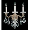 Schonbek La Scala Rock Crystal Three Light Wall Sconce