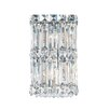 Schonbek Quantum Two Light Wall Sconce in Polished Silver