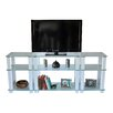 "RTA Home And Office White Lines 75"" TV Stand"