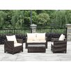 Handy Living 4 Piece Deep Seating Group with Beige Cushions