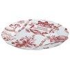BonJour Yuletide Garland Printed Fluted Platter