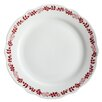 "BonJour Yuletide Garland 12"" Printed Porcelain Stoneware Fluted Dinner Plate (Set of 4)"