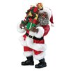 Kurt Adler Fabriche African American Santa with Gift Packages
