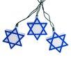 Kurt Adler 10-Light Hanukkah Star of David Light Set