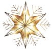 Kurt Adler 10-Light Capiz Wire Snowflake Treetop