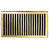 "Brass Elegans 7"" Solid Cast Brass Floor Register Trim Contemporary in Polished Brass"