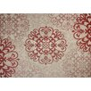 G.A. Gertmenian & Sons Macie Red & Beige Indoor/Outdoor Rug