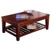 <strong>Livingston Coffee Table with Shelf</strong> by Alpine Furniture