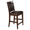Morgan Counter Height Chair With Faux Leather Cushion