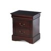 <strong>Alpine Furniture</strong> Louis Philippe 2 Drawer Nightstand