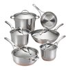 Anolon Nouvelle Stainless Steel 11-Piece Cookware Set