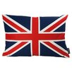 lava British Flag Feather Filled Throw Pillow
