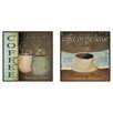 <strong>Kitchen Coffee Label 2 Piece Framed Graphic Art Set</strong> by Pro Tour Memorabilia