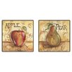 Pro Tour Memorabilia Kitchen Fruit Framed Canvas Art (Set of 2)
